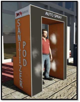 Auto Sanitizer Pod w/o sanitizing chemical